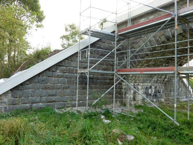 Natursteinsanierung von 4 Gewölbebrücken